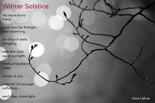 Irene Latham winter solstice poem