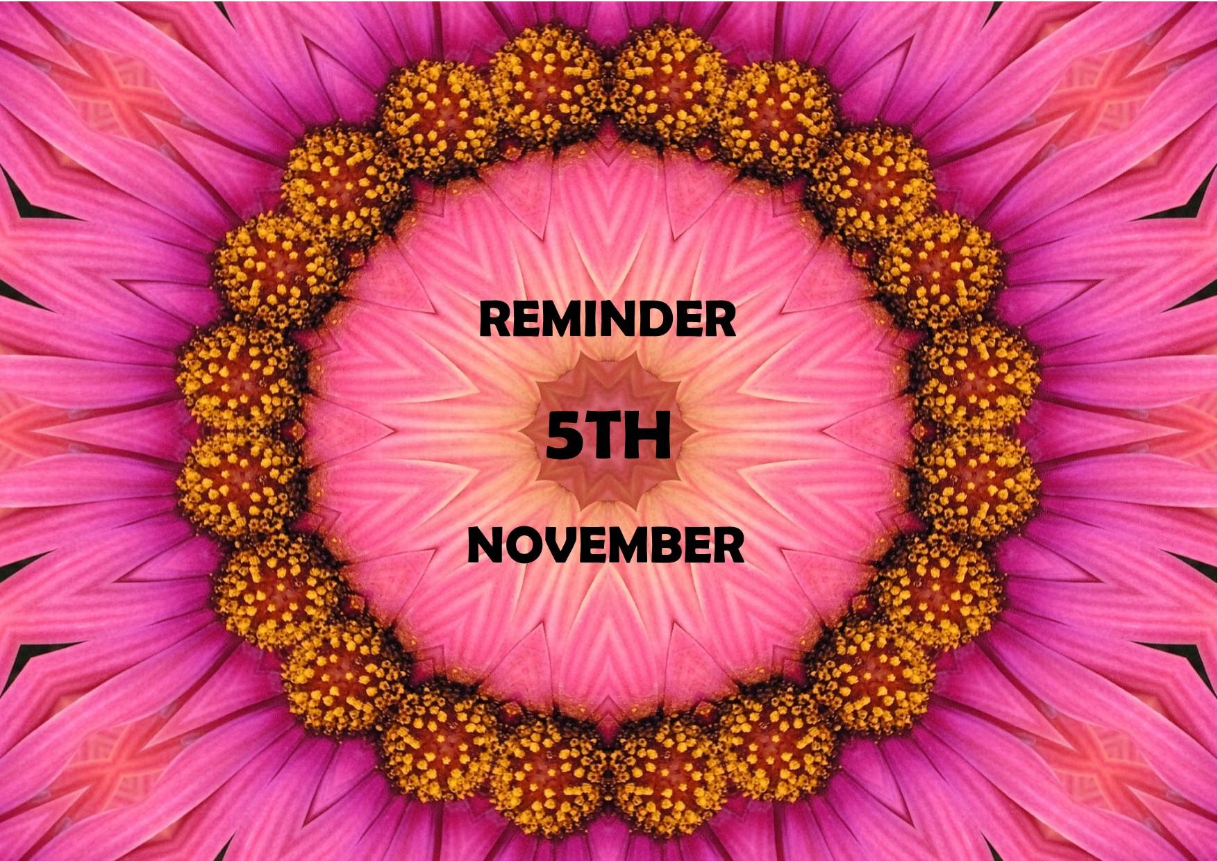 Reminder Nov 18